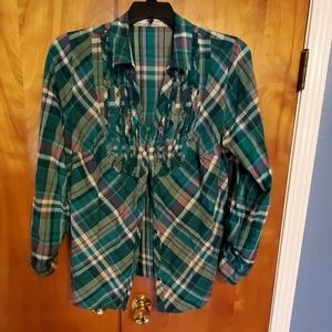 Cute flannel pattern maurice top